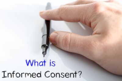 What is informed consent text concept isolated over white background